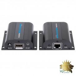 افزایش طول  HDMI بر روی تک کابل شبکه تا 50 متر برند lenkeng  مدل LKV372A