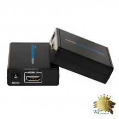 افزایش طول  HDMI برروی تک کابلCAT5/6/7 تا 40 متر برند lenkeng مدل LKV372