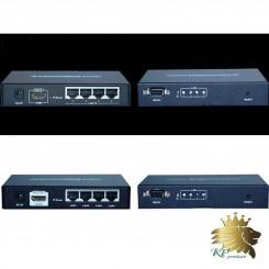افزایش طول  HDMI برروی تک کابل CAT5e/6 برد 120 مترlenkeng مدلLKV374