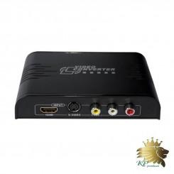 تبدیل AV / S-Video همراه با صدای استریو به HDMI برند lenkeng مدل LKV363A