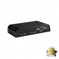 تبدیل AV Converter User Mannal AV/BNC به VGA برند lenkeng مدل LKV7505-AV