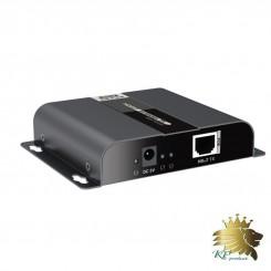 افزایش طول HDMI 4KX2K برروی IP CAT6 با فناوری HDbitT با POE برند Lenkeng مدل LKV683-POE
