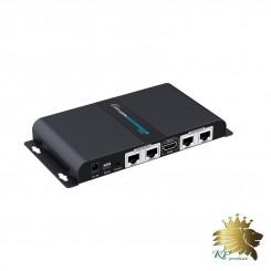اکستندر / اسپیلیتر LKV714, 1x4 HD بر روی کابل cat5/6/7 با IR PASS BACK