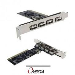 کارت پی سی آی USB 2.0 چهار پورت مدل امگا