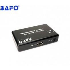تبدیل HDMI به VGA  باکس  با  صدا و آداپتور بافو