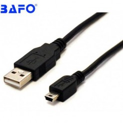 تبدیل ذوزنقه ایی Mini USB به USB2.0 سوکت طلایی مدل بافو