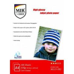 کاغذ 115 گرمی فتو گلاسه میر  MIR 115gr High Glossy Inkjet Photo Paper