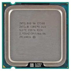 CPU Intel Core™2 Duo E7500 - 2.93 GHz 3M Cache