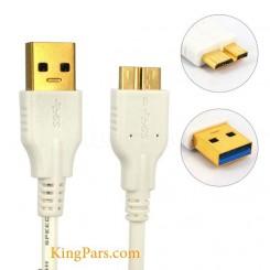 کابل تبدیل سر سوکت طلایی 0.75 متری Micro USB3.0 به USB3.0 نر بافو