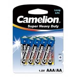 باتری قلمی کملیون کارتی 4 عددی با 4 عدد نیم قلمی