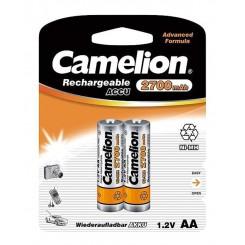 باتری قلمی قابل شارژ کملیون 2700 میلی آمپر کارتی 2 عددی