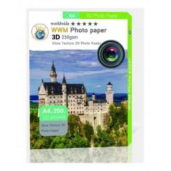 کاغذ فتوگلاسه دو رو 250گرمی WWM سایز A4 3D Glow