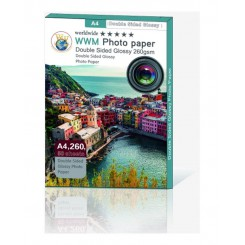 کاغذ فتوگلاسه دو رو 260 گرمی WWM سایز  A4