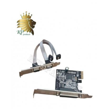 کارت PCI Express دو پورت سریال و پارالل  امگا با چیپ NEC ژاپن