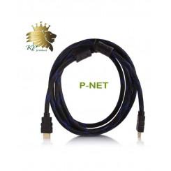 کابل HDMI پی نت 3 متری 1.4 پک نایلونی