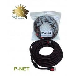 کابل HDMI پی نت 15 متری 1.4 پک نایلونی