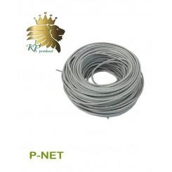 کابل شبکه Cat6 UTP تمام مس 100 متری P-net