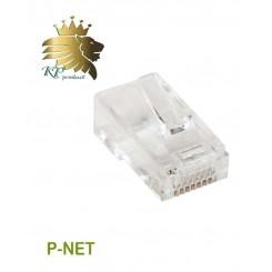 سوکت کابل شبکه RJ45 Cat.6 UTP Pnet