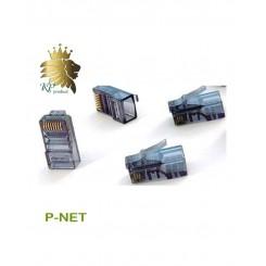 سر سوکت فلزی کابل شبکه RJ45 Cat.6 UTP Pnet