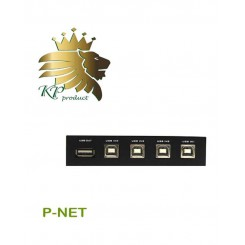 دیتا سوئیچ USB اتوماتیک 4 پورت P net