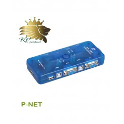 کی وی ام سوییچ 4 پورت USB اتوماتیک Pnet