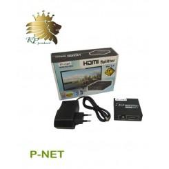 اسپلیتر P-Net دو پورت HDMI مینی