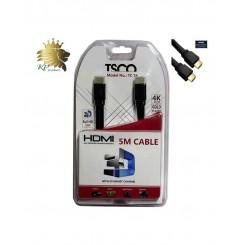 کابل HDMI تسکو فلت 5 متری 4K مدل TC74