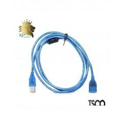 کابل USB افزایش طول شیلدار 1.5 متری TSCO مدل TC04